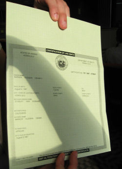 Obama's fake birth certificate